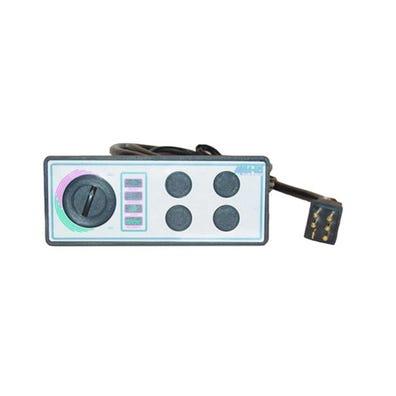 "Pneumatic Keypad 115V, 4-Button w/Temp Display w/Overlay, 8-1/4"" x 3-5/16"""