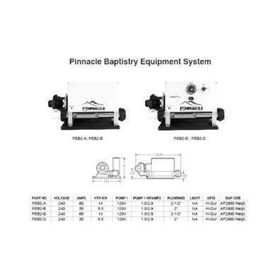 Baptismal Equipment System 230 V, 0.125 HP, Autofill/Drain Ready