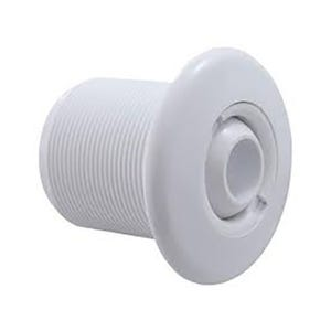 """Jet Wall Fittings & Parts 2-3/4"""" Face, White w/ Eyeball, Retaining Ring, Wall Fitting & Gasket"""