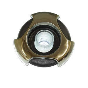 """Whirlpool Jet internal Directional, 5-1/2"""" Face, Tri-Lever, Black/Stainless Steel"""