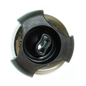 """Poly Storm Jet internal Directional, 3-3/8"""" Face, Black/Stainless Steel"""