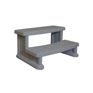 """Spa Step Double Step, Gray, Height 16"""" Width 31"""" Depth 22"""""""