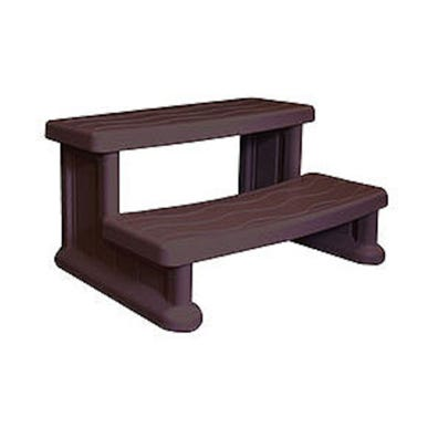 """Spa Step Double Step, Brown, Height 16"""" Width 31"""" Depth 22"""""""
