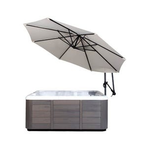 Umbrella Spa Side, w/Base, Cream