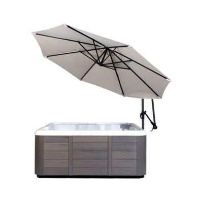 Umbrella Spa Side, w/Base, Cream