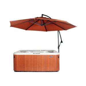 Umbrella Spa Side, w/Base, Rust