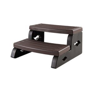 """Spa Step Double Step, Brown, Height 15"""" Width 27"""" Depth 25.5"""""""