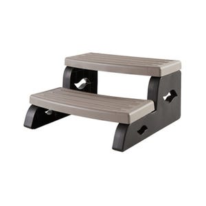 """Spa Step Double Step, Gray, Height 15"""" Width 27"""" Depth 25.5"""""""