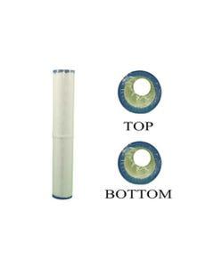 "Filter Cartridge Diameter: 2-7/8"", Length: 17-1/16"", Top: 2-1/8""Open, Bottom: 2-1/8""Open, 9 sq ft"