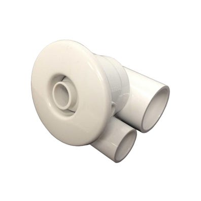 "Jet Complete Directional, 2-1/2"" Face, 1"" Water x 1/2"" Air, 1-11/16 Hole Size, White"