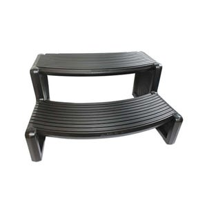 """Spa Step Double Step, Black, Height 14"""" Width 27"""" Depth 23"""""""