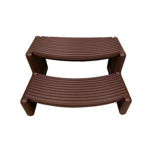 "Spa Step Double Step, Brown, Height 14"" Width 27"" Depth 23"""