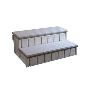 "Spa Step Double Step, Gray, Height 14"" Width 36"" Depth 24"""