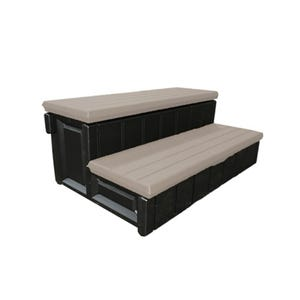 """Spa Step Double Step, Brown, Height 14"""" Width 36"""" Depth 24"""""""