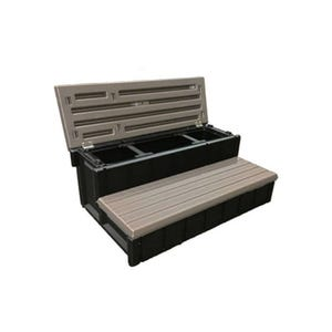 """Spa Step Taupe, Height 14"""" Width 36"""" Depth 24"""""""