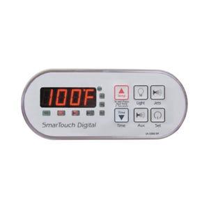 LX-1000 Electronic Keypad 6-Button, LED, Oval, Up-Light-Jets, Down-Blower-Set