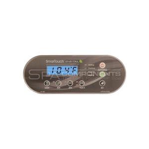 LXP-2020 Electronic Keypad 6-Button, Light-Aux1-Jets-Aux2, Temp Up-Temp Down-Set, Ribbon Cable