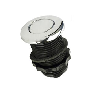 Air Button Chrome, low profile