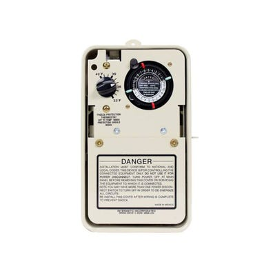 Time Clock w/Freeze Protection 24HR, 115/230V, DPST