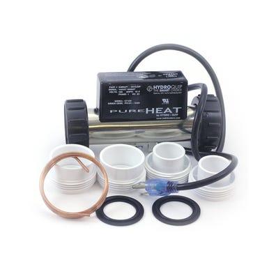 """Bath Heater In-Line, 1.5kW, 115V, 1-1/2"""", 7"""" Long"""