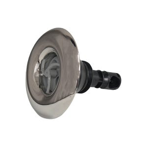 """Quantum Jet internal 4-3/8"""" Face, Screw In, Pulsator, Smooth, Gray w/ Stainless Escutcheon"""