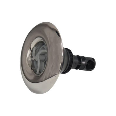 "Quantum Jet internal 4-3/8"" Face, Screw In, Pulsator, Smooth, Gray w/ Stainless Escutcheon"