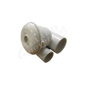 """Jet Complete Directional, 2-1/2"""" Face, 1"""" Water x 1/2"""" Air, 1-11/16 Hole Size, White"""