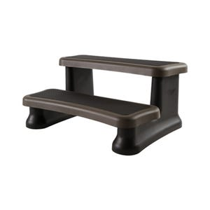 """Spa Step Double Step, Portabello, Height 16-1/4"""" Width 36"""" Depth 28"""""""