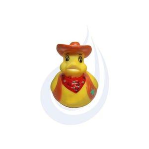 Rubber Duck Cowboy Duck Keychain