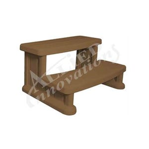 "Spa Step Double Step, Tan, Height 14"" Width 31"" Depth 22"""